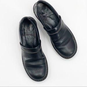 Born Black Leather Slip on Shoes Size 9
